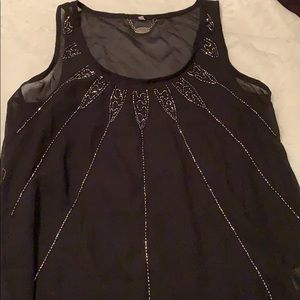 Black tank top with bling